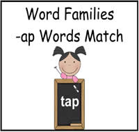 AP Words Match File Folder Game
