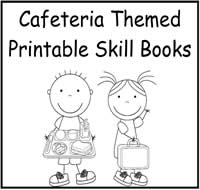 Cafeteria Themed Printable Books