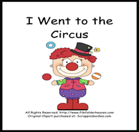I Went to the Circus Sequencing Story