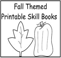 Fall Themed Printable Skill Books