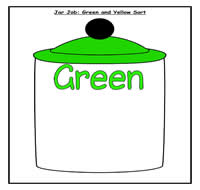 Green and Yellow Sort Jar Job
