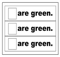 """Are Green."" Flip Strips"