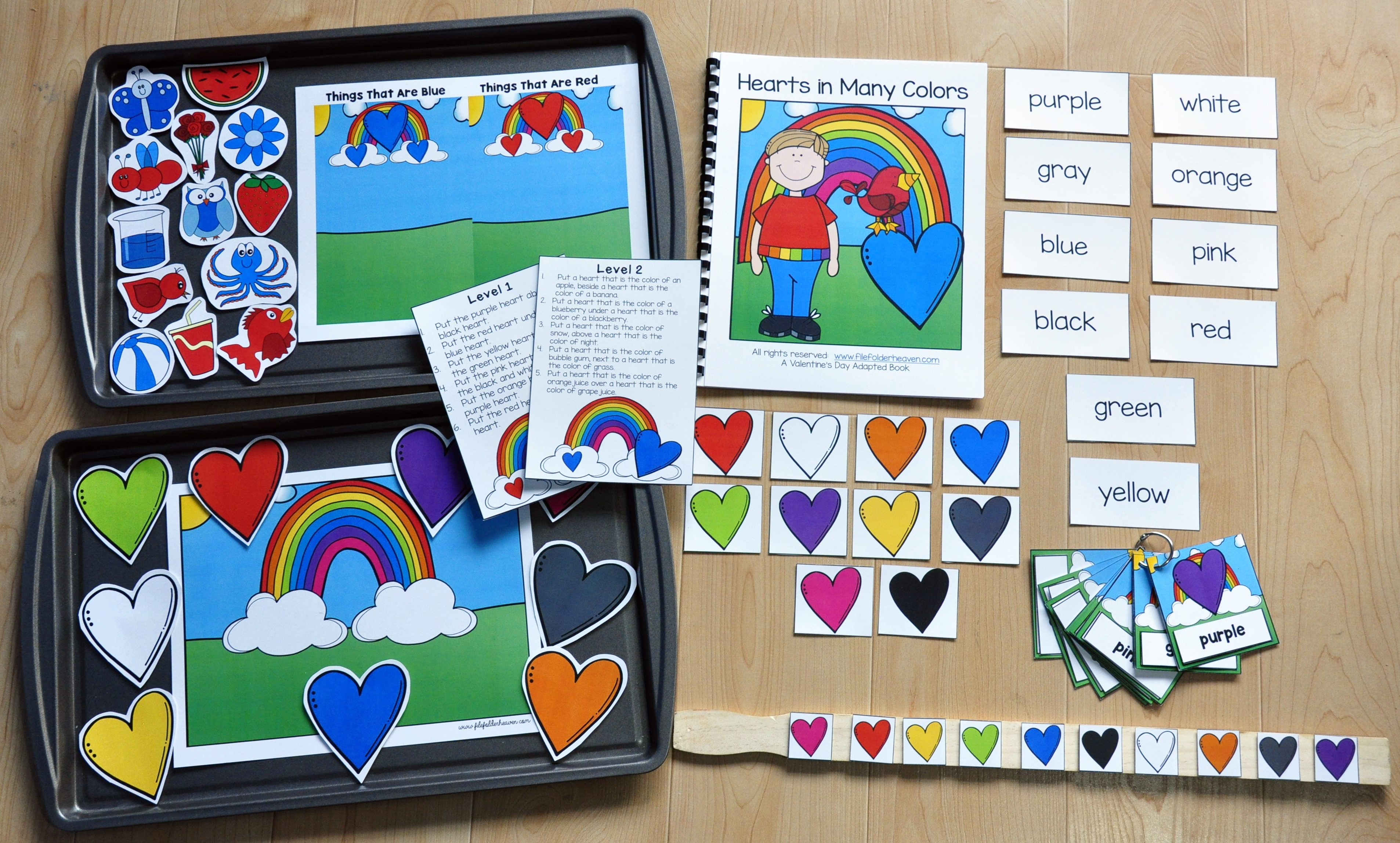 Hearts in Many Colors Adapted Book Unit