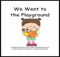 We Went to the Playground Sequencing Story