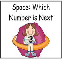 Space: Which Number Comes Next File Folder Game