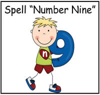 "Spell ""Number Nine"" File Folder Game"