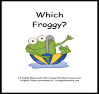 Which Froggy is Which Riddle Book