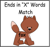 """X"" Words Match File Folder Game"