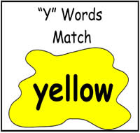 """Y"" Words Match File Folder Game"